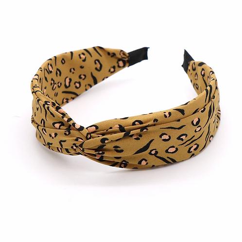 Camel mix safari print headband