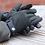 Thumbnail: Khaki twill men's gloves Med/Lge