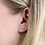 Thumbnail: Sterling silver earlines with rainbow bezel set crystals