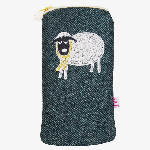 Winter Sheep Glasses Purse (Herringbone)