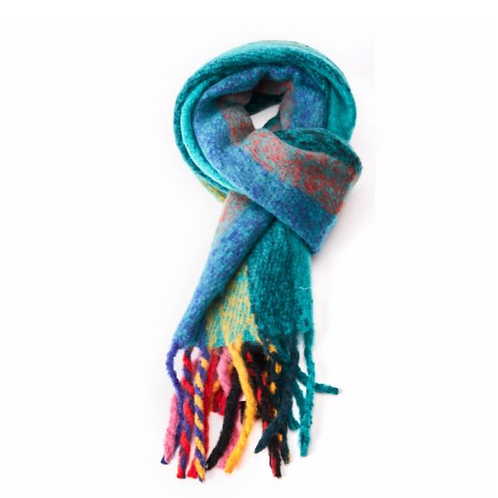 Stripes Scarf-Teal