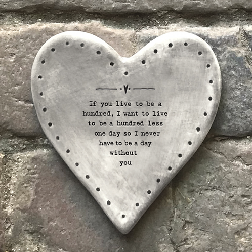 Rustic heart coaster-Live to be one hundred