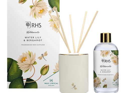 250ML WATER LILY & BERGAMOT REED DIFFUSER