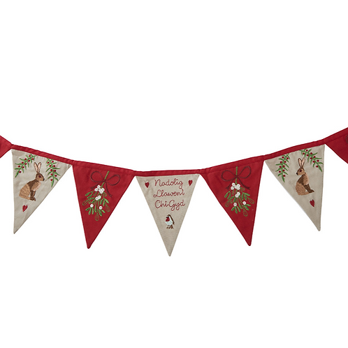 WELSH XMAS HARE BUNTING