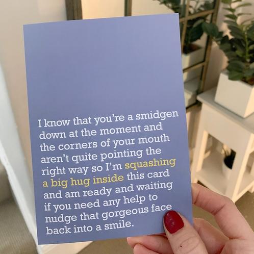 BIG HUG INSIDE CARD