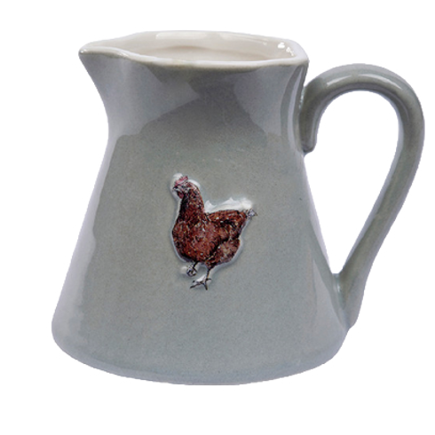 Chicken Mini Stoneware Jug