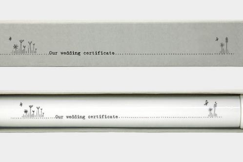 East Of India Porcelain Wedding Certificate Holder