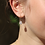 Thumbnail: Gold plated hoop and square crystal drop earrings