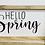 Thumbnail: Hello Spring Plaque