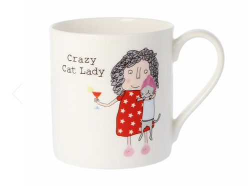 Rosie Made A Thing Crazy Cat Lady Quite Big Mug