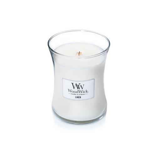 Linen Woodwick Medium Candle