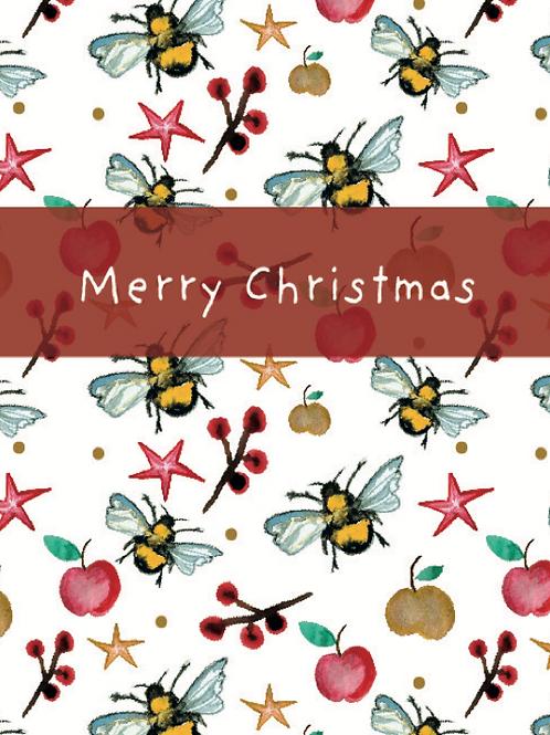 Merry Christmas Bee Seed Card