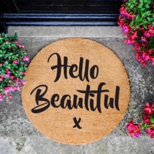 Hello Beautiful Circle-Black
