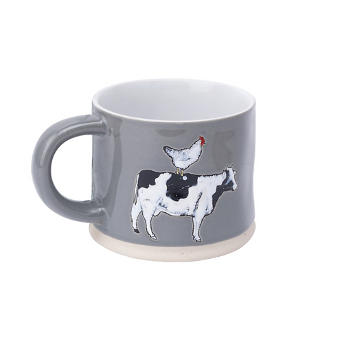 THE LITTLE FARMHOUSE COW & HEN MUG