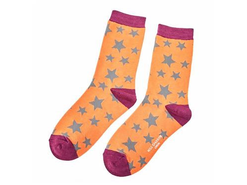 Star Socks Orange