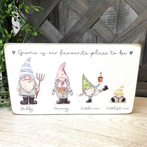 Gnome Family of 4 Block