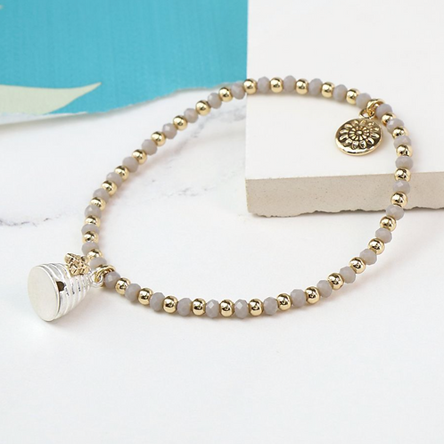Honey Bee And Beehive Beaded Bracelet