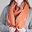 Thumbnail: Reversible orange and taupe bee scarf