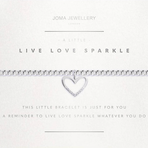 A LITTLE LIVE LOVE SPARKLE FACETED BRACELET