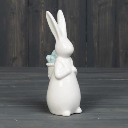 Porcelain Rabbit 17 cm-Blue