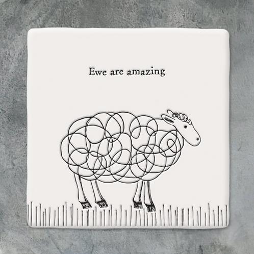 Sq coaster-Sheep/Ewe are amazing