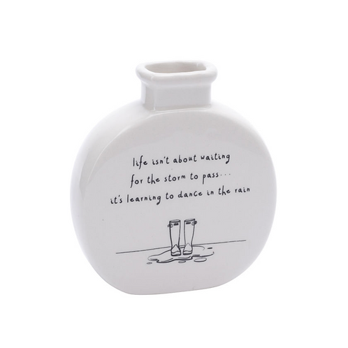SENT & MEANT 'LIFE ISN'T ABOUT WAITING' BUD VASE