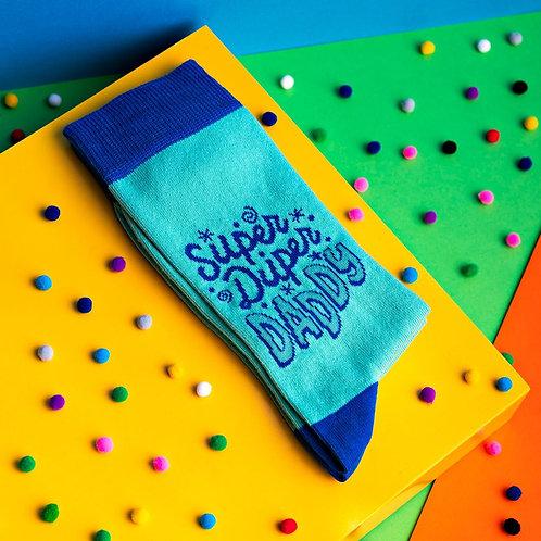 CHEERFUL SOCKS - SUPER DUPER DADDY