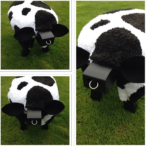 Friesian Cow Footstool