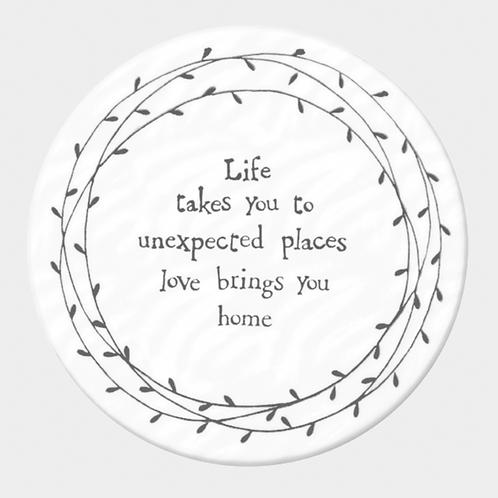 Leaf Coaster-Life takes you