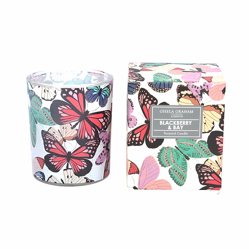Boxed Scented Candle - Butterflies/Blackberry & Bay
