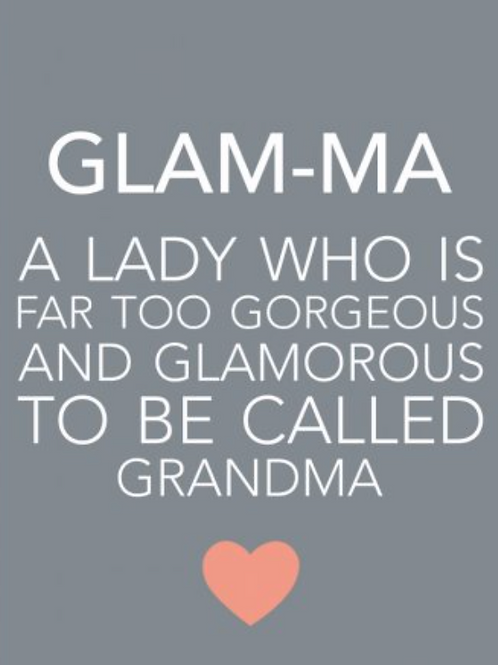 Small Grey Magnet - Glam-ma