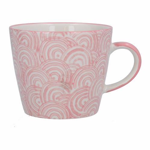 Ceramic Mug - Rainbows/Pink