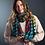 Thumbnail: Green, mustard and orange circle stripe scarf