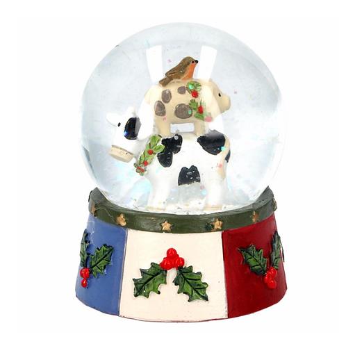 New England Farm Snow Globe