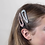 Thumbnail: Pink and white shell teardrop hair clips