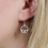 Thumbnail: Silver plated circle, stars and crystal earrings