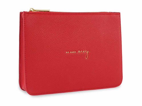 STYLISH STRUCTURED POUCH | SO VERY MERRY | RED