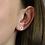 Thumbnail: Sterling silver cut out flower stud earrings