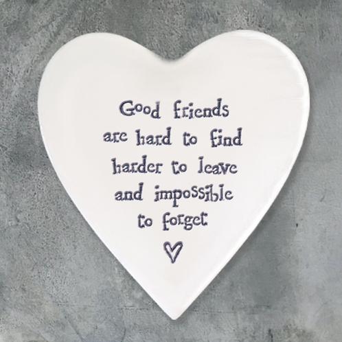 Hearts Coaster-Good Friends