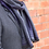 Thumbnail: Navy and grey plaid check scarf for men