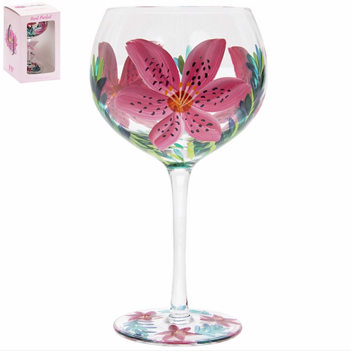 Floral Gin Glass-Lily