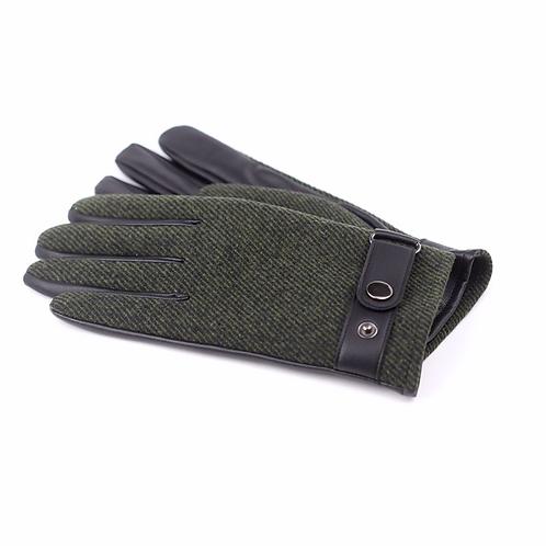 Khaki twill men's gloves Med/Lge