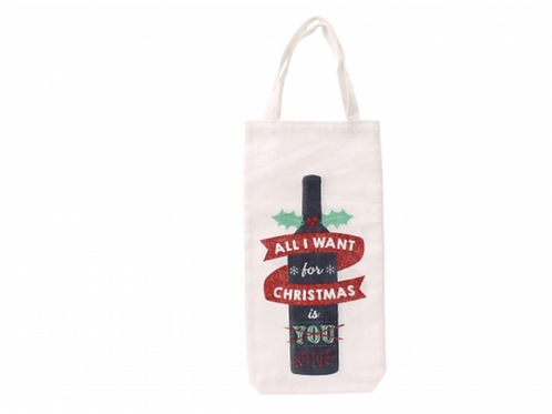 All I Want For Christmas Bottle Bag