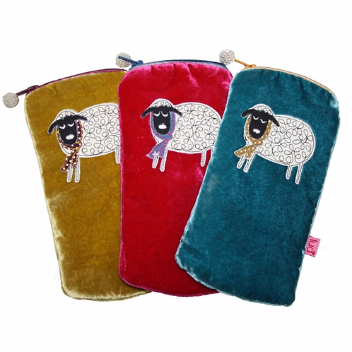 Winter Sheep Glasses Purse
