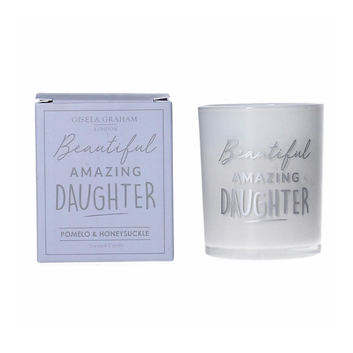 Boxed Sentiment Votive Candle - Daughter