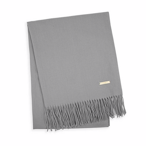 THICK PLAIN SCARF | GREY