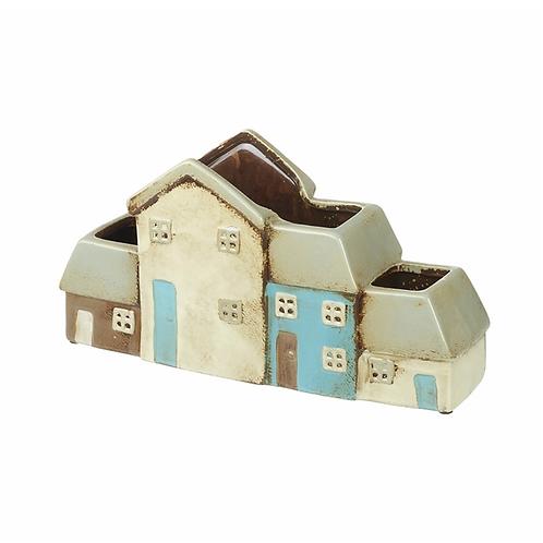 4 House Ceramic Planter