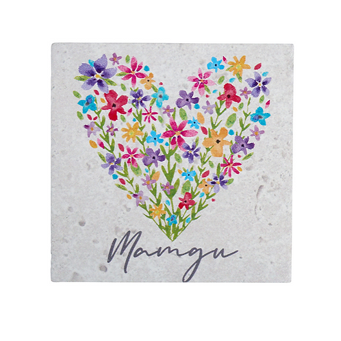 Welsh Flower Mamgu Coaster