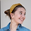 Thumbnail: Yellow and white polkadot print headband