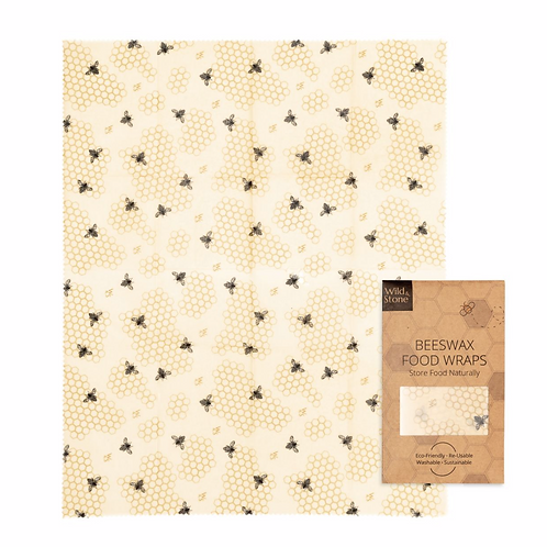 Beeswax Food Wraps – HoneyComb Pattern – 1 Pack (XL Bread Wrap)